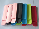 2 in 1 silicone mobile phone pocket with stand for