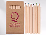 Half length 6pcs packed color pencil set with custo