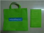 Advertising promotional folding tote bag with cardb