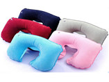 Advertising inflatable car neck pillow with Flockin