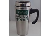 Customized logo printing stainless steel mug with h