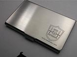 Custom laser logo metal name card holder for promot