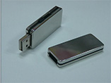 Customized capacity metal USB flash drive with prin
