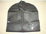 Zipper non woven Suit Garment Bag with PVC window