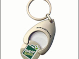 Metal Trolley coin keyring for promotional use 2017