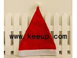 Custom cheap Nonwoven Christmas Santa Claus hat