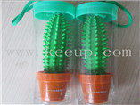 Promotional use Cactus shaped ballpoint pen with yo