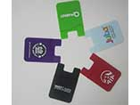 Custom convenient silicone phone wallet for card ho