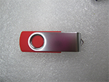 Twist USB flash drive for giveaways with branded logo