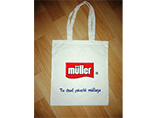 White cotton bag with custom sublimation printing