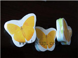 Butterfly compressed shape cotton towel for branding