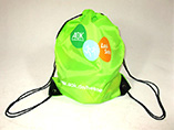 Customized drawstring bags with pu reinforce
