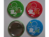 Wholesale cheap tin button badge with custom size and print