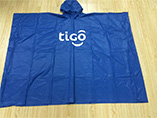 Cheap custom cape raincoat with branded logo printi
