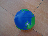 Promotion globe anti stress ball with logo printing