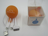 Promotional ball shape usb data cable