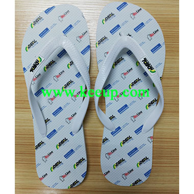 Color logo print soft beach slipper