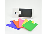 Rubber card case for all kinds of phones with your