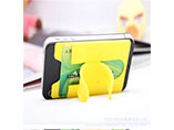Convinent and Silicon phone card holder for adverti