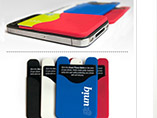 Smart phones' rubber card holder for business