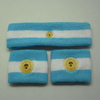 Customized cotton embroidered sweatband and Headban