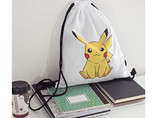Wholesale customized cartoon pikachu drawstring bag