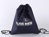 Eco-friendly non-woven black drawstring bag