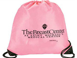 Customize logo branding pink color 210D Polyester Beam mouth bag