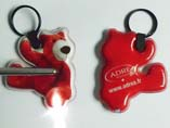Bear Shape PVC LED Keychains