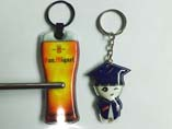 Cartoon PVC LED keychain