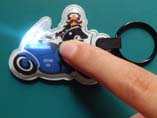 Motocycle shaped PVC LED keyring