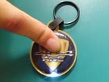 Round shaped PVC LED Keychains