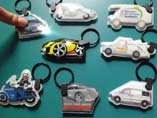 Car shaped PVC LED Keychains