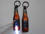 Bottle Shaped PVC LED Keyrings