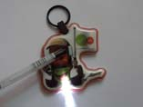 Customized PVC LED Keyrings