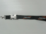 Polyester lanyard with seperate clip