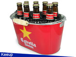 10QT Beer Bucket with Wooden Handles
