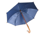 Advertising Umbrella With Wood Crook Handle