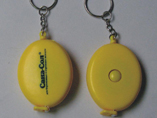 Oval Tape Measure Keyring