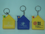 House Shaped Tape Measure  With Keychain