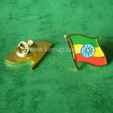 Zinc Alloy flag badges