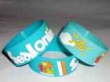 Fashion Debossed Silicone Wristband