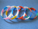 2012 Fashion Segmented Silicone Wristband