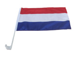 The Netherlands Car Flag
