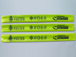 Reflective PVC Slap Wristband