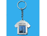 T-shirt Style Metal Keychain With Logo
