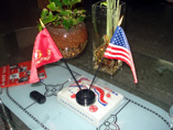 Decorative Table Top Flag Stand