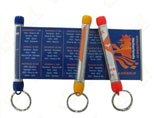 Plastic Scroll Banner Keychain