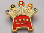 Customizing Butterfly Clasp Crown Metal Badges