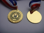 Medallion Metal Medal With Ribbon